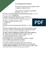 File Management Evidence