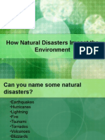 Impact of natural disaster on environment
