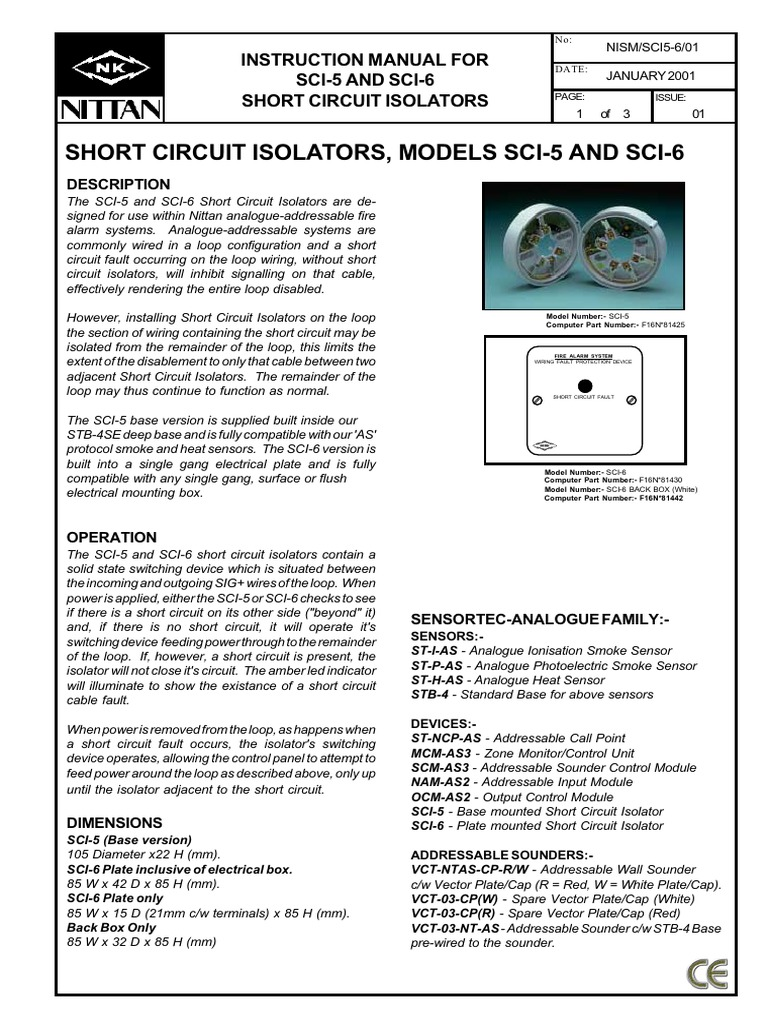 Sci5 Techmanual Electrical Wiring Cable Loop System
