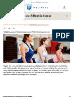 5 Must-Do Asanas _ Askme on Wellness