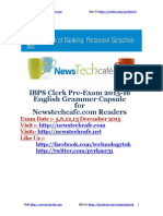 IBPS Pre-exam General English Grammar