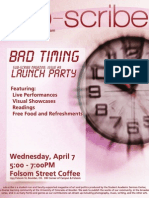 Bad Timing (Launch Party)