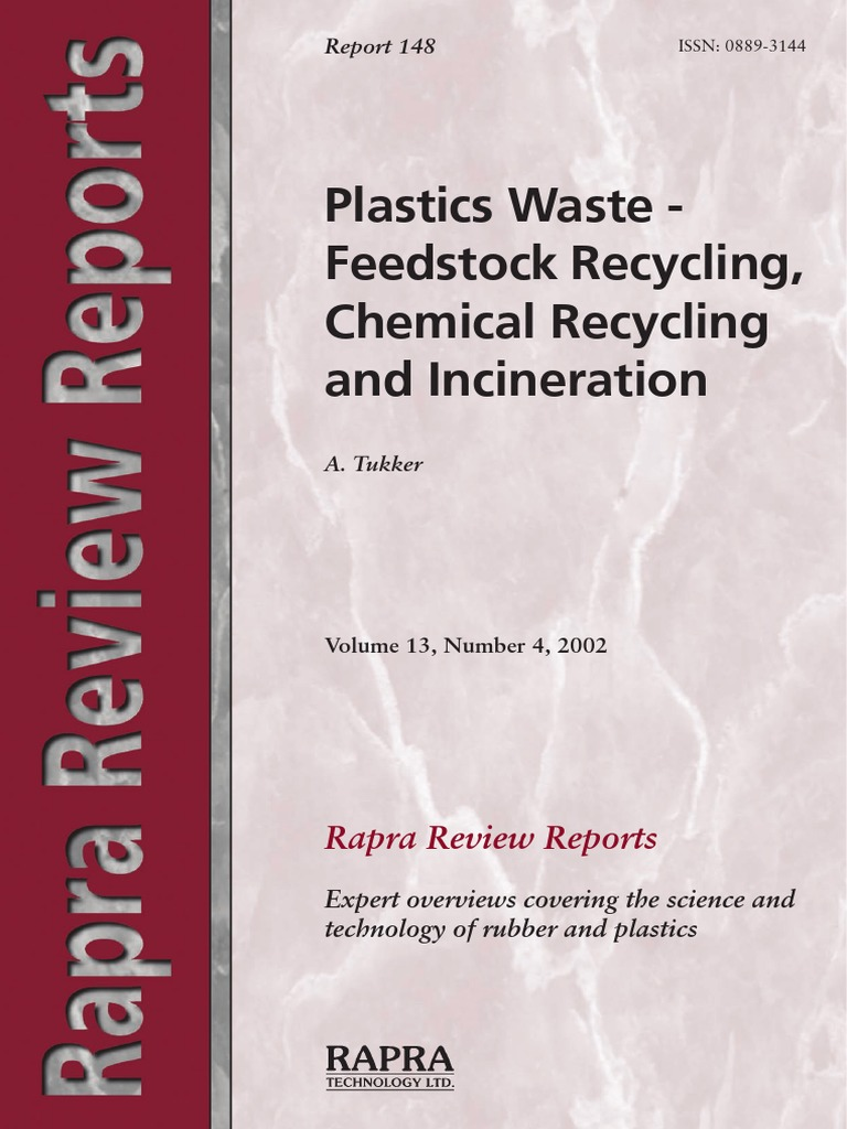Rapra Review Reports Tukker, Arnold Plastics Waste   Feestock ...