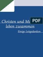 Islam Christen Und Muslime Leben Zusammen