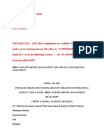 Ib0013 –Export Import Management