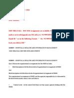 Mh0053 – Hospital & Healthcare Information Management