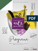 Semana Arte Mulher - Programação completa