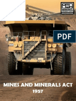 Mines and Minerals Act 1957 - MEW