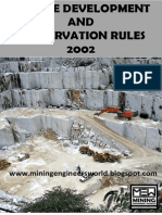Marble Conservation and Devlopment Rules 2002 - MEW