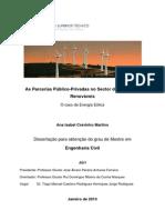 As PPP No Sector Das Energias R - Ana Isabel Craveiro Martins