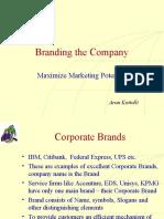 Branding the Company