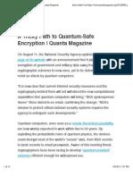 A Tricky Path to Quantum-Safe Encryption | Quanta Magazine