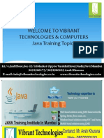 Java Training Topics