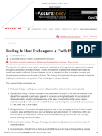 Fouling in Heat Exchangers_ a Costly Problem