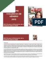 25n 2015 Informe Violencia de Genero 2015