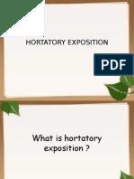 Hortatory Exposition 1