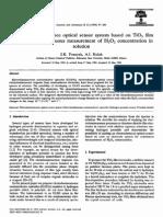 Sensors and Actuators B- Chemical Volume 22 Issue 2 1994 [Doi 10.1016%2F0925-4005%2894%2987006-3] S.K. Poznyak; A.I. Kulak -- An Electroluminescence Optical Sensor System Based on TiO2 Film Electrodes (1)