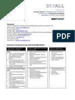 Coordination Meeting Report