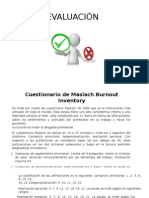 EVALUACION Maslach Burnout