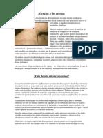 Alergias a Las Cremas
