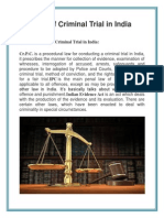Process of Criminal Trial in India