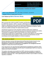 The Time is Nigh - An Actionable Timeline for IQCP Implementation - By Compliance Global Inc.