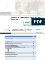 CSIS Report Options in Dealing With NPT Iran Mar10