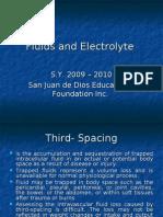 Fluids and Electrolyte disturbances