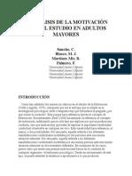 Análisis de La Motivación Para El Estudio en Adultos Mayores