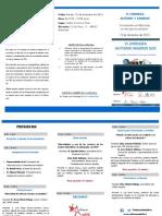Folleto VI Jornada Autismo Madrid Sur