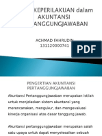 Aspek Keperilakuan Dalam Akuntansi Pertanggungjawaban