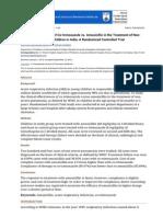 Clinical Effectiveness of Co-trimoxazole vs. Amoxicillin in the Treatment of Non-Severe Pneumonia in Children in India_ a Randomized Controlled Trial