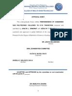 3 Approval Sheet