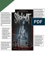 Slipknot Tour Poster Analysis