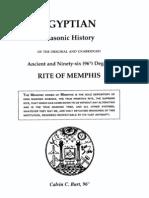 Egyptian Masonic History - Calvin Burt