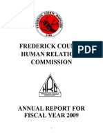 Frederick County, MD Human Relations Commission - 2009 Annual Report