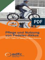 Anleitung zur Pflege und Nutzung von Pedelec-Akkus
