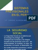 Sistemas Previsionales en EL Perú