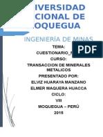 Transaccion de Minerales Metales