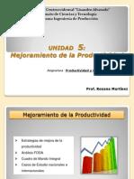 Unidad 5 Mejoramiento Productividad