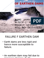 Failure of Earhen Dam