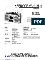 Service Manual Sharp Ghettoblaster Gf4646