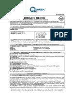 Erradic Block-hoja de Seguridad c.r.
