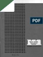 2238BL Marantz Stereophonic Receiver_Handbook of Instructions de en FR