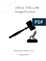 Professor Oloka-Onyango delivers inaugural lecture on GHOSTS AND THE LAW