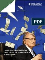 LA TABLA DE TRANSPARENCIA EN EL FÚTBOL DE TRANSPARENCY INTERNATIONAL
