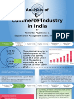 Analysis of E-Commerce Industry in India and the implications for the future
