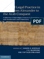 James G. Keenan, J. G. Manning, Uri Yiftach-Firanko-Law and Legal Practice in Egypt From Alexander to the Arab Conquest_ a Selection of Papyrological Sources in Translation, With Introductions and Com