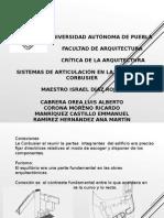 SISTEMAS DE ARTICULACIÓN EN LA OBRA DE LE CORBUSIER