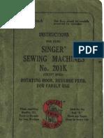 Singer 201k Manual